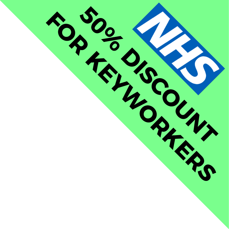 50% discount for NHS keyworkers